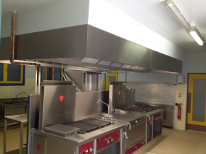 Installation for Extraction cuisine professionnelle